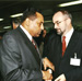 With Dr. Kamil Idris, Director General of WIPO at the WIPO General Assembly, Geneva, 2000